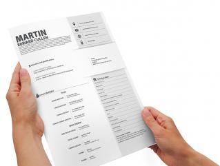 Resume Template Outliner View 1