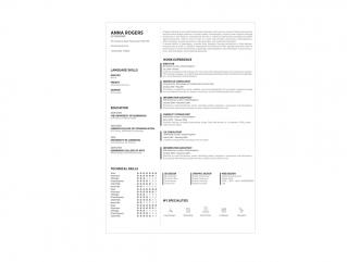 Resume Template Blossom View 1