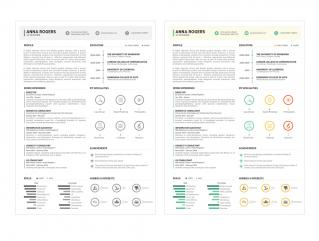 Resume Template Flourish View 1