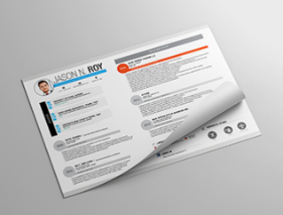 Resume Template Be Square View 1
