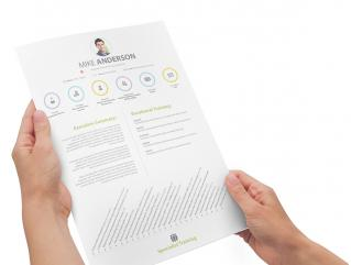 Resume Template Vital View 1